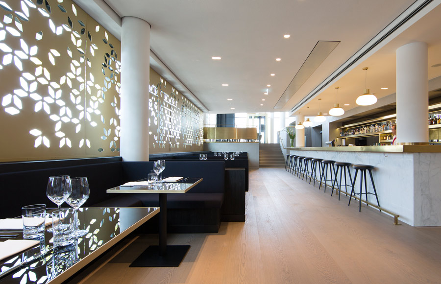 Restaurant, Cafe, Cafeteria, Kantine, Interior, Bar, Lighting, Feature, Coffee, Mercedes-Benz, Design, Screen, Seating, Banquettes, Bar