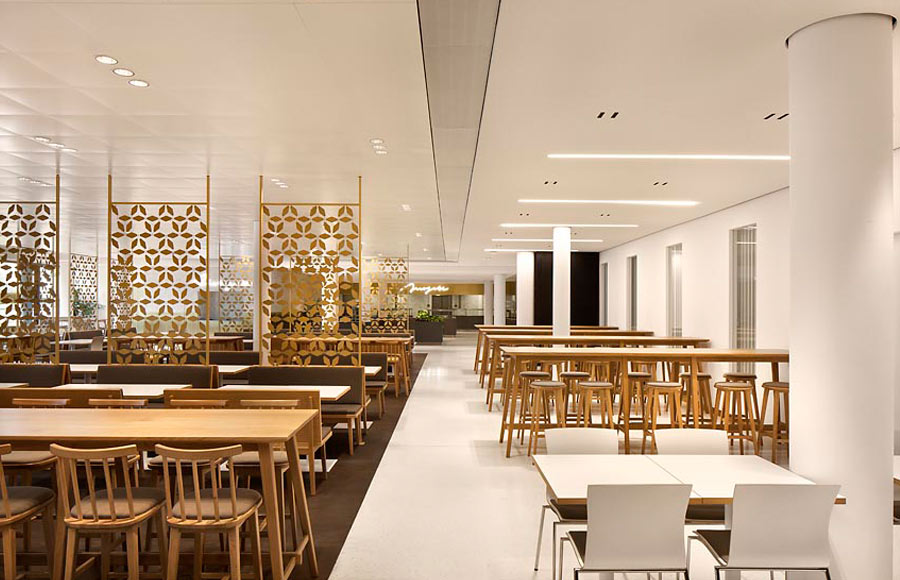 Restaurant, Cafe, Cafeteria, Kantine, Interior, Bar, Lighting, Feature, Coffee, Mercedes-Benz, Design, Seating, Dining, Bespoke